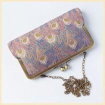wedding photo - clutch bag, wedding purse, peacock bag in Liberty of London 'Hera' print