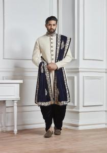 wedding photo - Indian Wedding Sherwani,mens wedding wear,wedding sherwani,groom sherwani for wedding,designer wedding sherwani,sherwani with dupatta