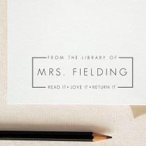 wedding photo - Read it Love it Return it - From the library of-Custom name -This Book Belongs to - Teacher stamp-classroom stamp-custom Rubber Stamp RE353