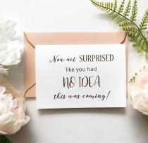 wedding photo - Rose Gold Foil Will You Be My Bridesmaid proposal Card -  Maid of Honour Card - now act surprised like you had no idea - scratch reveal card