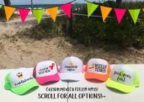 wedding photo - MEXICO Trucker hats / Party in Mexico Cabo Cancun / Birthday Bachelorette Beach Girls Trip / TOTALLY CUSTOM / Pick Fonts and Embellishments