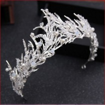 wedding photo - Magnificent white freeze winter crown, silver crown for the bride, Frozen hair accessory
