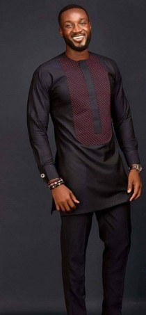 wedding photo - African men's shirt, African men's clothing, wedding suit, dashiki, vêtement africain, chemise et pantalon, African attire, prom dress