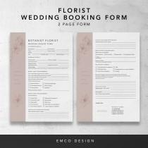 wedding photo - Florist Wedding booking form