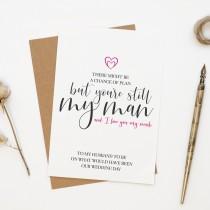 wedding photo - Almost husband, Postponed wedding day card, delayed wedding card, original wedding day a6 card
