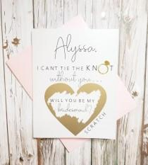 wedding photo - Personalized Bridesmaid Proposal Card.  Bridal Party Proposal Card.