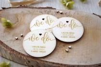 wedding photo - Wooden Wedding Save the Date Magnets, Best Fall Save the Dates, Unique Save the Date Fridge Magnets, Wooden Rustic Save the Date Magnets UK