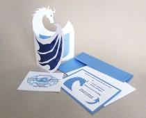 wedding photo - Wedding INVITATION SET Medieval Fantasy Renaissance Dragon Custom Invite
