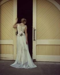 wedding photo - The SHAYLA Dress via special order Amy Jo Tatum Bridal Couture. See more: etsy.com/listing/266884633/boho-wedding-dress-shayla?ref=shop_home_active_4 #weddingdress #wedding #weddinginspiration #weddingdresses #weddingattire #weddingapparel #weddingcouture