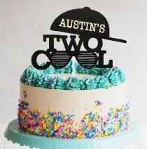 wedding photo - Two Cool Any Name Cake Topper