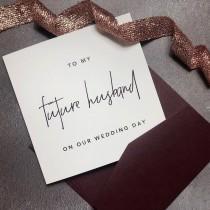 wedding photo - Groom Card