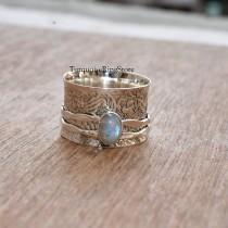wedding photo - Moonstone Ring, Spinner Ring, Anxiety Ring, Boho Ring, Handmade Ring, Fidget Ring, Promise Ring, Meditation Ring, Women Ring, Gift For Her