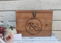 wedding photo - Wood Wedding Card Box, Rustic Wedding Decor, Wedding Card box