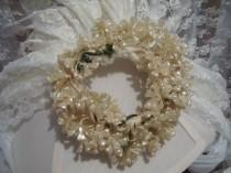 wedding photo - Antique Vintage Wax Flower Bridal Veil Headpiece