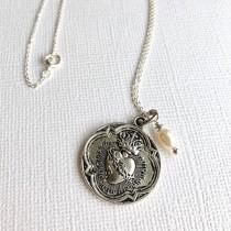 wedding photo - Sacred Heart Necklace
