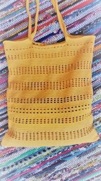 wedding photo - Crochet Tote