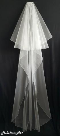 wedding photo - Ivory Wedding Veil, Two Layers