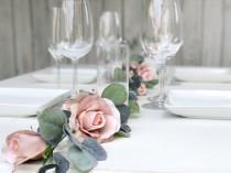 wedding photo - 8 ft Champagne Flower Garland