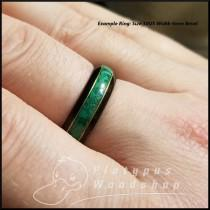 wedding photo - Wooden RIng - Morta - Bog Wood - Malachite - Bronze Edgework - Custom Ring