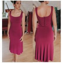 wedding photo - Tango dress: bordeaux red