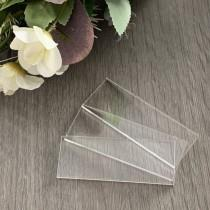 wedding photo - Clear Acrylic Rectangle Blank Place Cards, Rectangle Plain Tiles, Plain Place Names