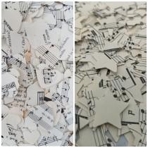wedding photo - Sheet Music Wedding Table Confetti Decoration Hearts and Stars/Jazz Musical Party Decorations/Opera Concert Afterparty Celebration Scatters