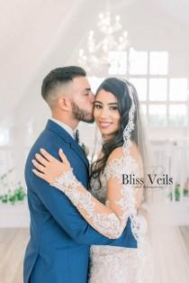wedding photo - Gorgeous Mantilla Veil - Cathedral Length - Fast Shipping!