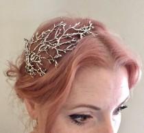 wedding photo - The BETTY Headpiece - Branch Twig Antler Woodland Ethereal Natural Crown Headband Fascinator