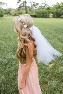 wedding photo - Flower Crown Veil - Boho Bachelorette Veil - Bachelorette Flower crown - Bridal Crown - Bridal Flower Crown - Bachelorette Veil - Bride