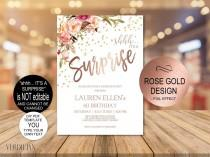 wedding photo - DIY Any Age Surprise Birthday Invitation Template, Shhh it's a Surprise Birthday Invite for Women, Printable PDF Instant Download