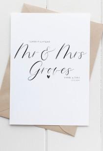 wedding photo - Personalised Wedding Card, Mr And Mrs, Customised Calligraphy Card, On Your Wedding Day, Mrs and Mrs Card, Mr and Mr Card, Same Sex Card