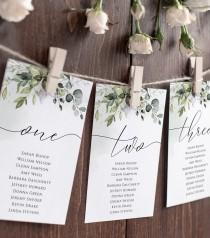 wedding photo - Script Elegance Wedding Seating Chart Template, Wedding Table Numbers, Seating Plan, Editable Template, Instant Download, Craft, White