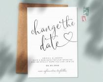 wedding photo - Postponed Wedding Cards, Wedding Change the Date Cards , Cancellation Wedding, Wedding Postpone Announcement Cards, Canceled Event #124