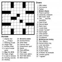 wedding photo - Personalized Crossword - Perfect for Weddings, Anniversaries, Birthdays, and More!