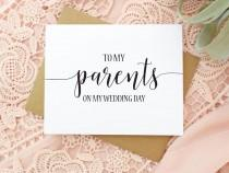 wedding photo - Wedding Card for Parents - To My Parents On My Wedding Day - Thank You Card - Wedding Day Keepsake - Mom and Dad BC217