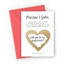 wedding photo - Godparents Proposal Scratch off Card, Will you be my Godparents? Asking card, Personalised God Parents Poem Card, Custom Proposal Card