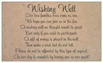 wedding photo - 10 WISHING WELL CARDS kraft brown cards to include with wedding invitations gift cards tags black print general poem