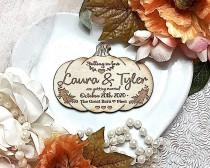 wedding photo - Wooden magnet save the date, Autumn wedding , Change the date,  Halloween wedding