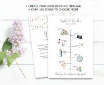 wedding photo - Wedding Timeline Printable, Editable Timeline, Rustic Wedding Welcome, Order of Events, Wedding Day Timeline, DIY Wedding Itinerary Template