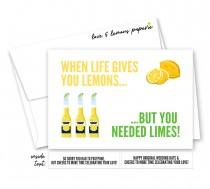 wedding photo - When Life Gives You Lemons, Postponed/Quarantined/Cancelled Wedding, Corona Brides, Happy Original Wedding Date Greeting Card