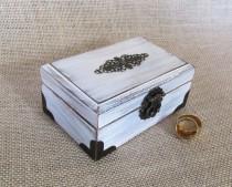 wedding photo - Wedding Ring Pillow, Ring Bearer Pillow, Ring Box,Ring Bearer Box, Wedding Ring Holder, White Wedding Ring Box,Ring bearer gift