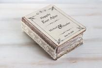 wedding photo - Personalized wedding ring box, Rustic ring bearer box, Custom wedding box, Wedding Ring Box, Ring holder Ring Bearer Pillow Romantic Wedding