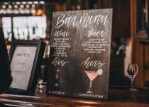 wedding photo - bar menu