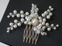 wedding photo - Wedding Pearl Crystal Bridal Hair Comb