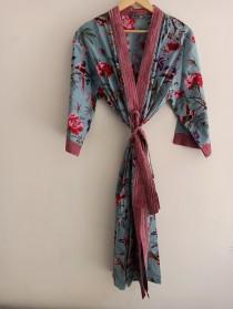 wedding photo - 100% Cotton kimono Robes, Pure cotton Kimono, Cotton Kimono, Festival Clothing, Kimono Kaftan, Oriental Kimono, Women's robes
