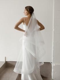 wedding photo - Modern Two Tier Veil