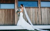 wedding photo - Soft Wedding Veil, All Lengths Available, Long Veil, Cathedral Veil, Bridal Fingertip Veil, Bridal Veil, Chapel Veil, Waltz Veil, Knee Ivory