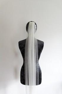 wedding photo - Ivory long wedding veil, Plain ivory veil, Wedding dress veil, plain wedding dress veil, ivory veil, 2.5m ivory veil, wedding veil