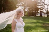 wedding photo - Drop veil, standard cut edge veil