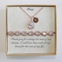 wedding photo - Custom Mothers gift, Mother of the groom set, Mother of the bride set, Mother Necklace bracelet set, Mother wedding earrings, Mother in law